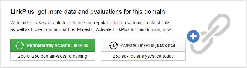 Análisis específico y único de enlaces con LinkPlus
