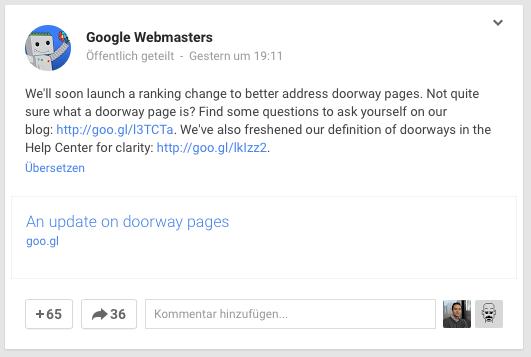 "En Google+ se habla de un ""RankingChange"
