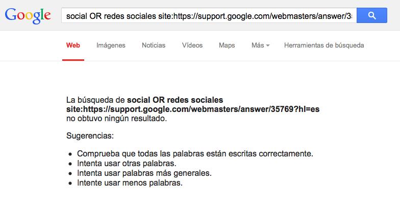 No existe ningún artículo en las directrices de Google sobre Redes Sociales.