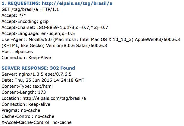 302-Redirects de elpais.es a elpais.com vistos con URIValet