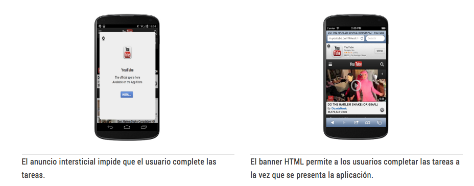 Youtube con Intersticiales es un error. La solución es un Banner-HTML