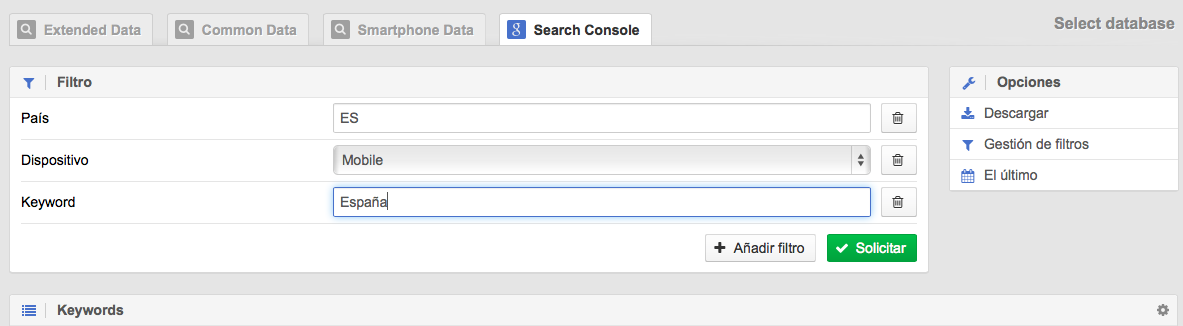 Integrar Google Search Console con SISTRIX