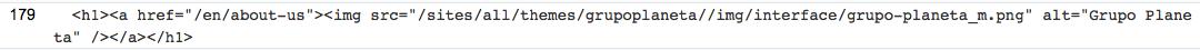 Análisis código HTML