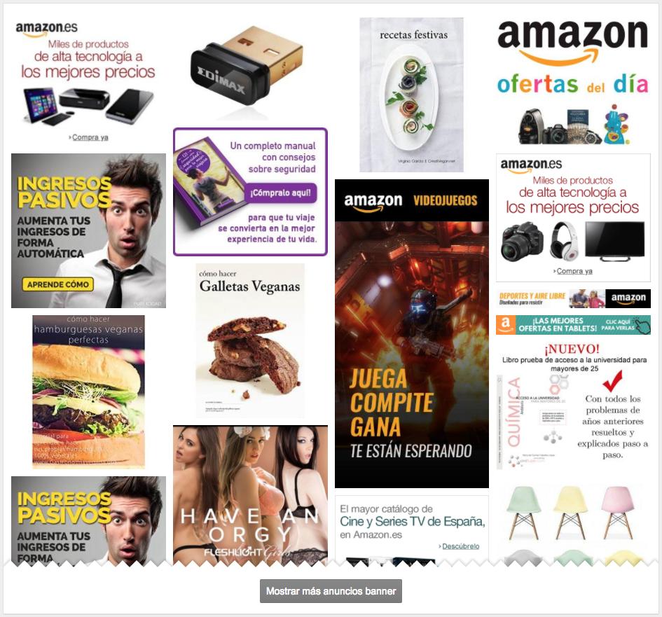 Banners encontrados por SISTRIX para el dominio Amazon.es