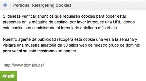 Personal retargetting banners a través de cookies