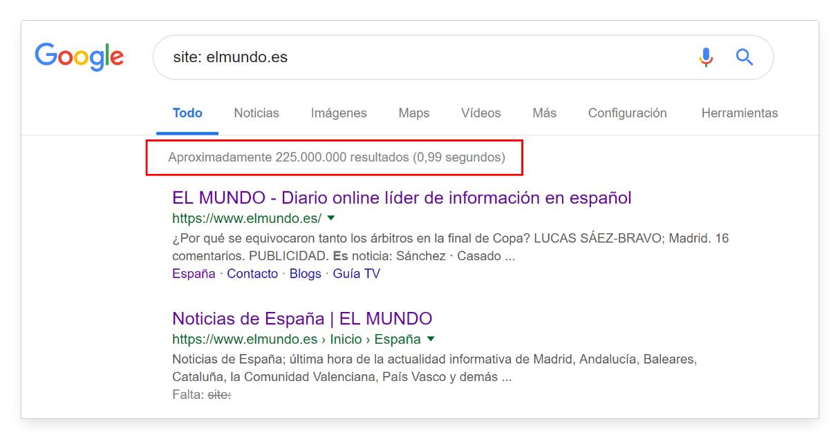 consulta site en Google elmundo.es