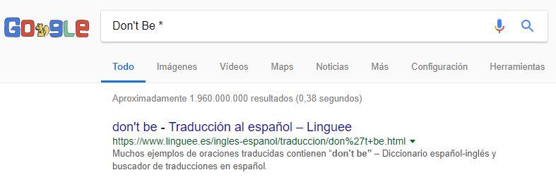 uso de asterisco en la búsqueda de Google