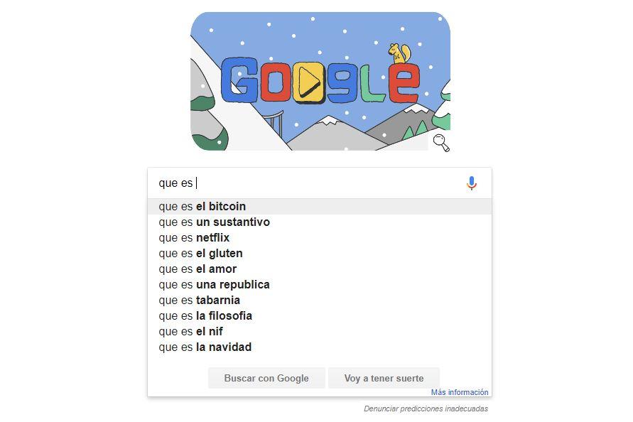 El doble espacio para Google Suggest
