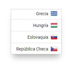Icono para los nuevos países añadidos a la herramienta SISTRIX Toolbox - Grecia, Hungría, Eslovaquia y República Checa