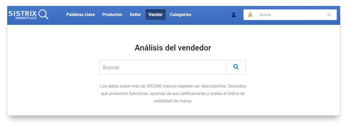 herramienta amazon de SISTRIX para el Vendor Adidas