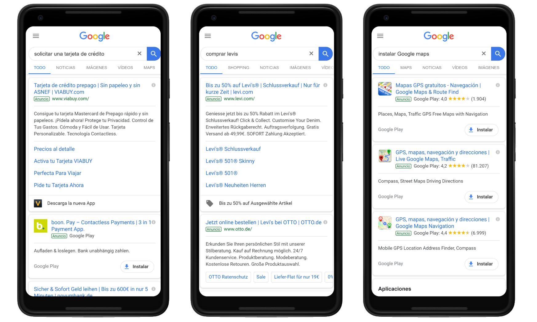 """Ejemplos de búsquedas """"Do"""" como intención de búsqueda del  usuario en Google"""