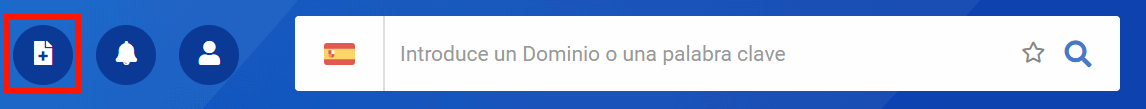 Imagen que muestra dónde encontrar las listas en la parte superior de la navegación junto a la función de búsqueda, bajo el icono con la hoja con el signo más