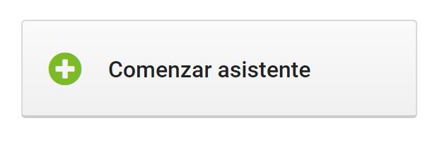 Inicio - Asistente de contenido SISTRIX. Botón para iniciar el asistente de contenidos SISTRIX