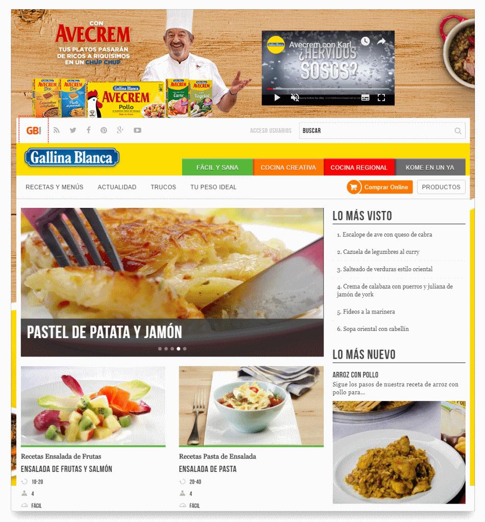 Homepage del dominio gallinablanca.es