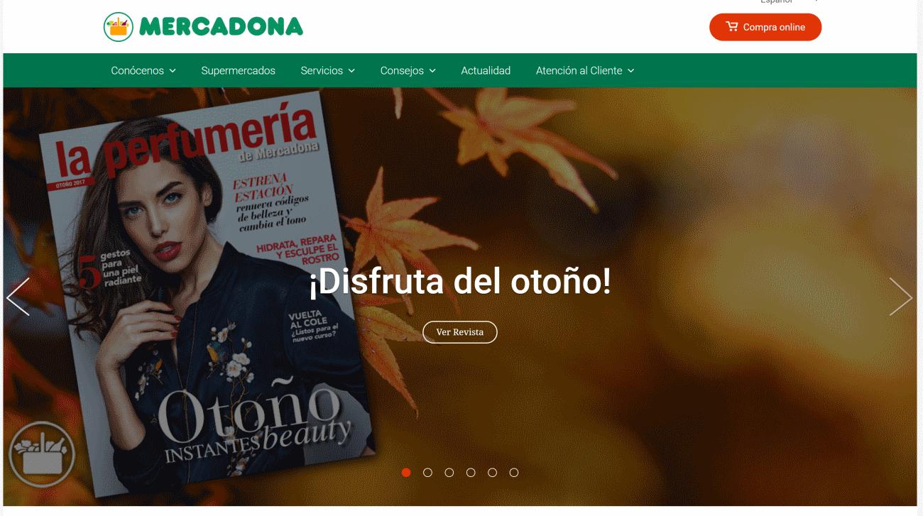Captura de pantalla del Mercadona.es