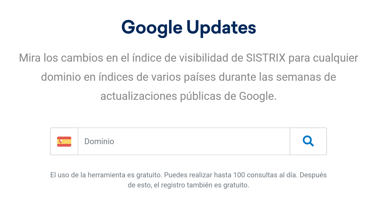 "herramienta ""Google Updates"" gratuita de SISTRIX"