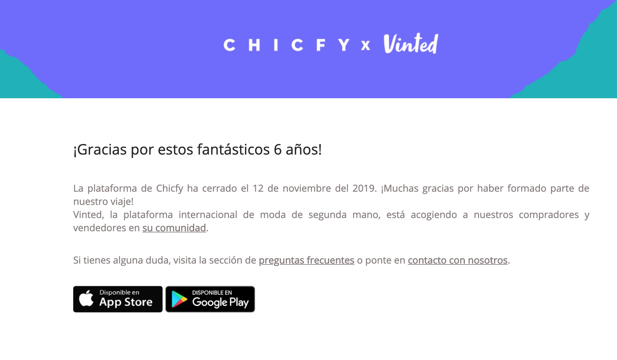 Despedida de Chicfy