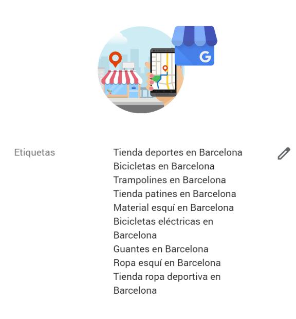 Optimización de etiquetas en Google My Business