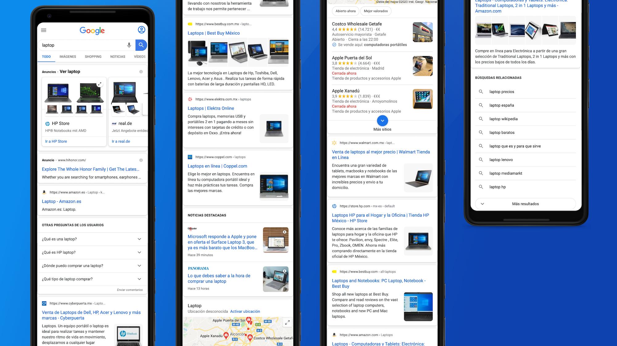numerosas integraciones de Google