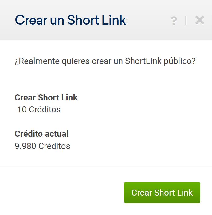 Shortlink de Sistrix para compartir datos sobre un dominio con clientes o con tu equipo
