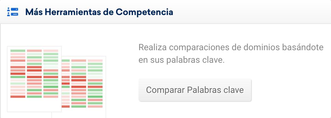 Comparar las Keywords de todovino.com y sus competidores